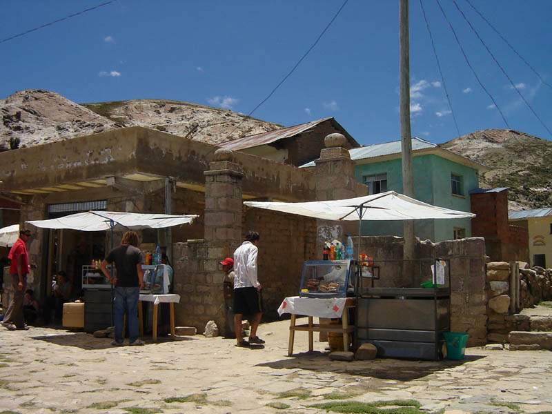 Bolivia, ristorazione all'aperto.
