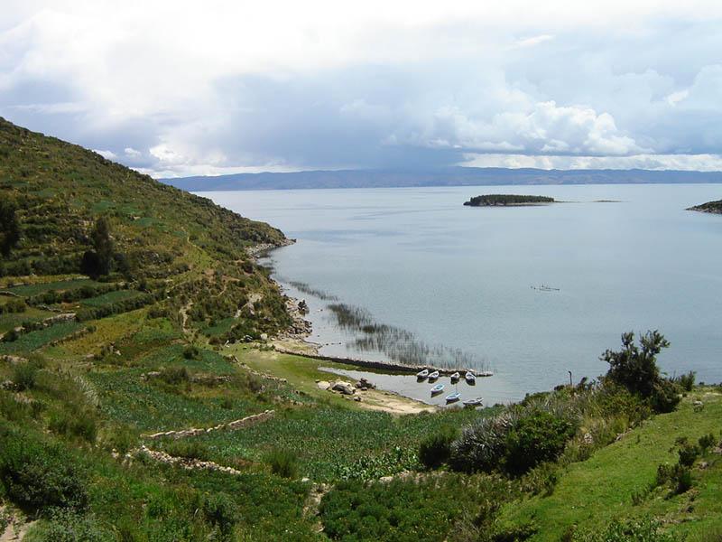 Bolivia, porticciolo nell'Isla del Sol.
