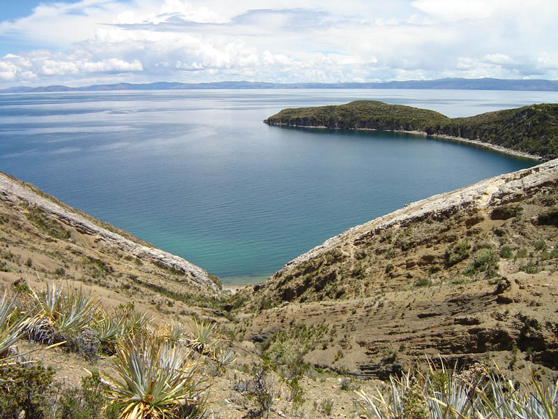 Bolivia, baia Sabacera, Isla del Sol.