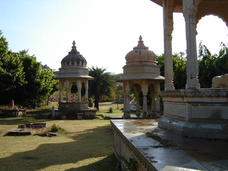 Giardino interno del Forte di Chittorgarh