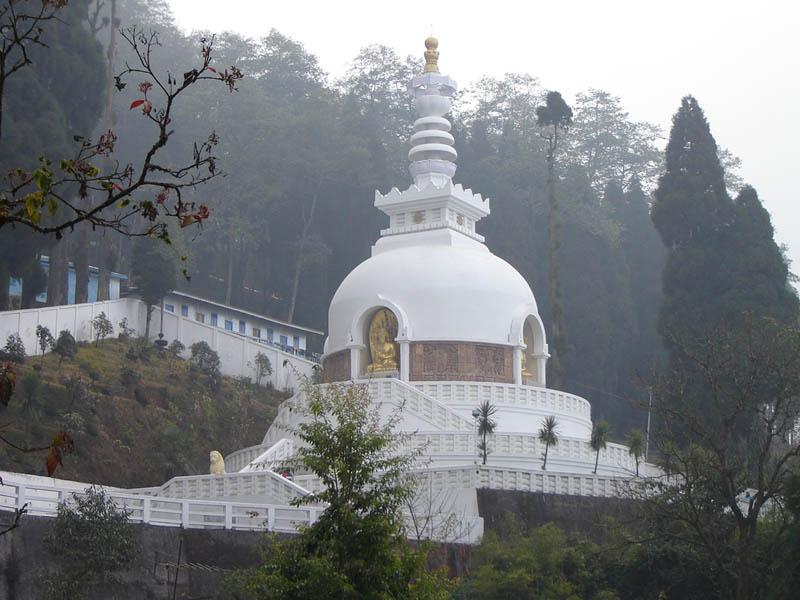 Lo Stupa Giapponese a Darjeeling.