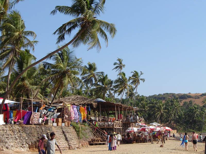 India, Anjuna - Il mercato sulla spiaggia.