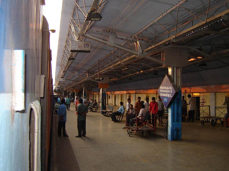 India, Trivandrum - La stazione ferroviaria.