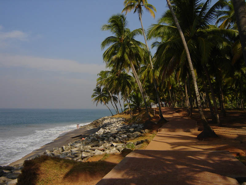 India, Kerala - Passeggiata costiera.