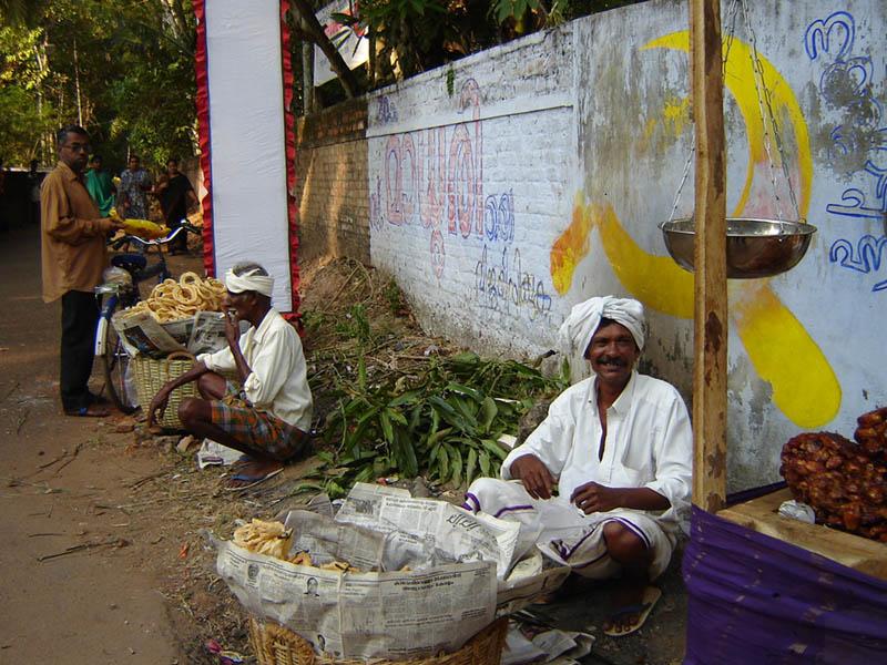 India, botteghe per strada.