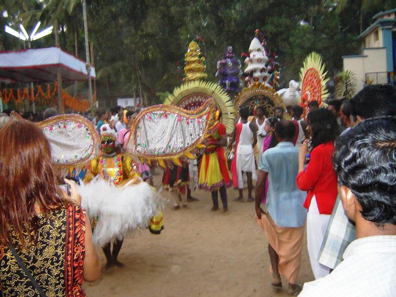 India, Varkala in festa.