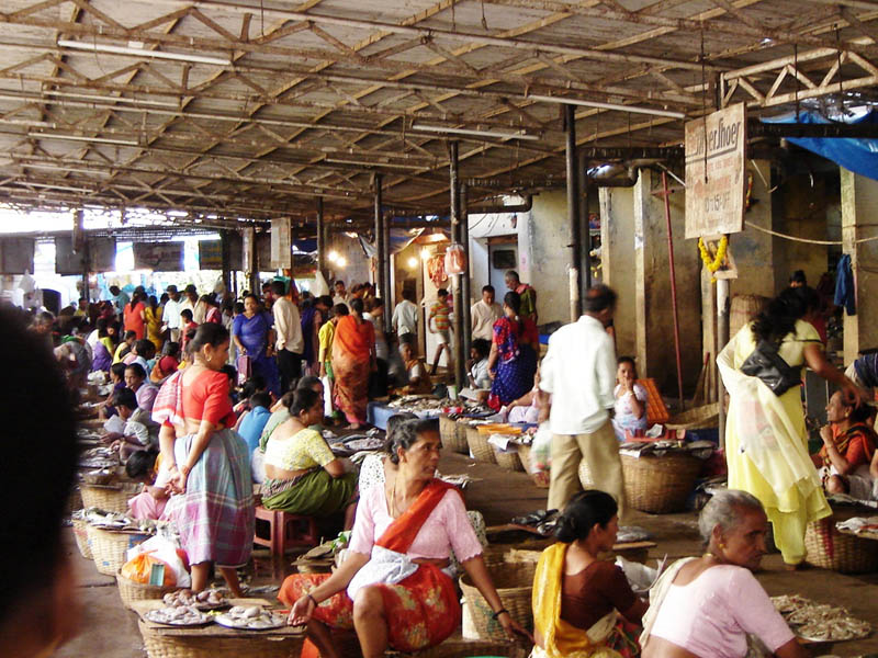 India, Goa - Il mercato del pesce.