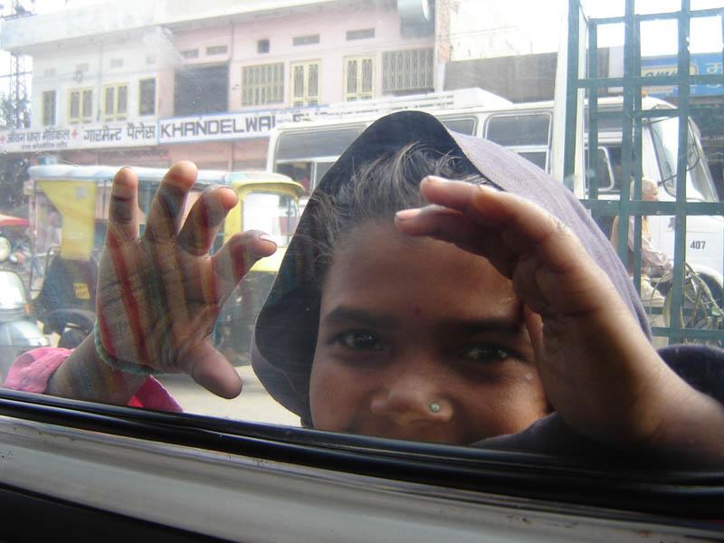 Jaipur, occhi curiosi.
