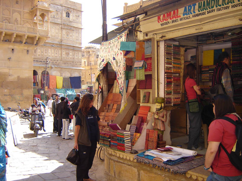 Jaisalmer, legatoria artigianale artistica.