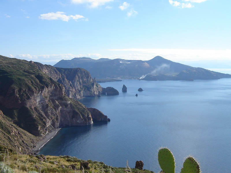 Eolie, isola di Lipari - Punto panoramico a Quattrocchi.