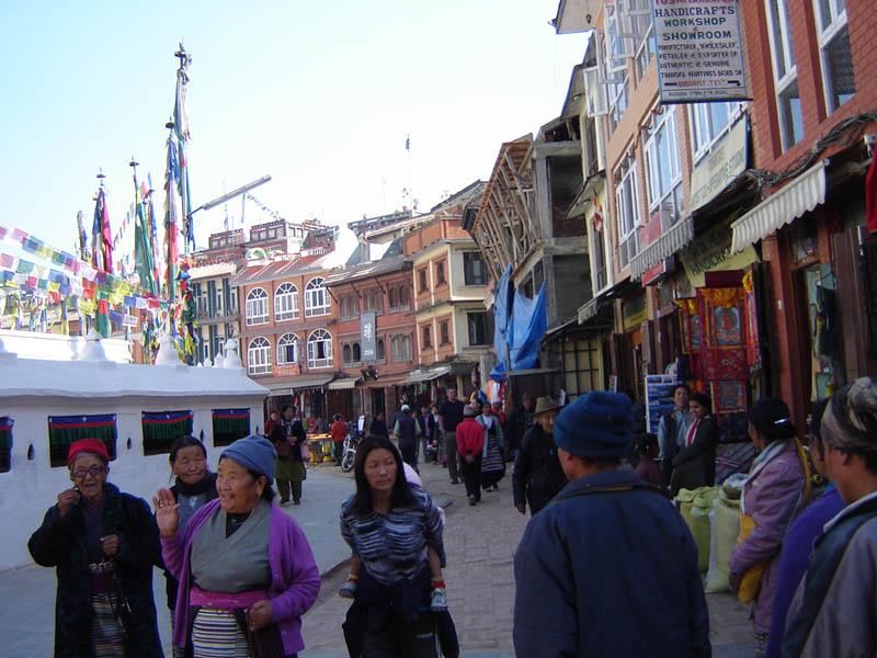 Nepal, Stupa di Bodhnath (Centro Tibetano).