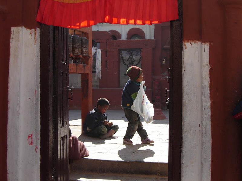 Nepal, Kathmandu, bimbi.