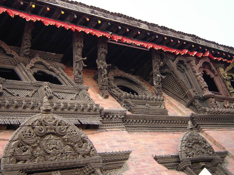 Nepal, Kathmandu, particolari del tempio.