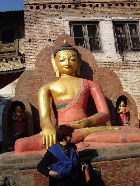 Nepal, Kathmandu, fronte e profilo....