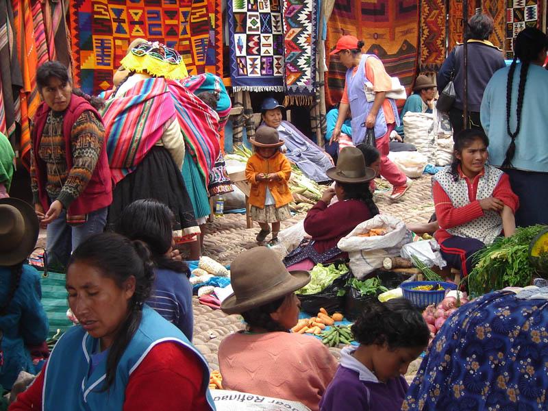 Pisac, donne al mercato
