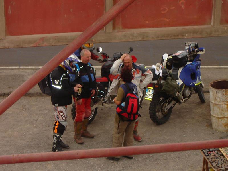 Perù, Mirador, incontro con motociclisti italiani