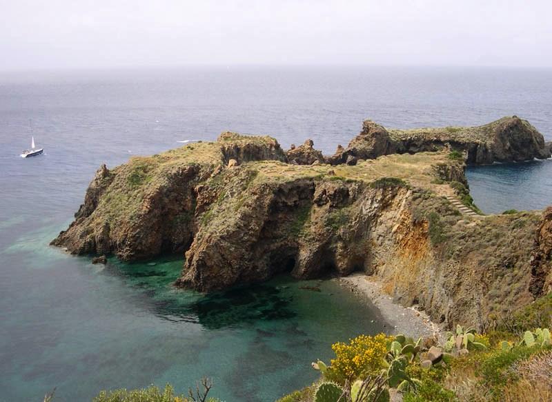 Eolie, Punta Milazzese a Panarea.