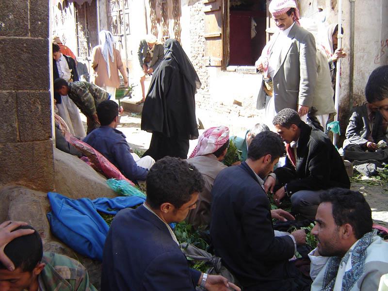 Sanaa, venditori di Qat