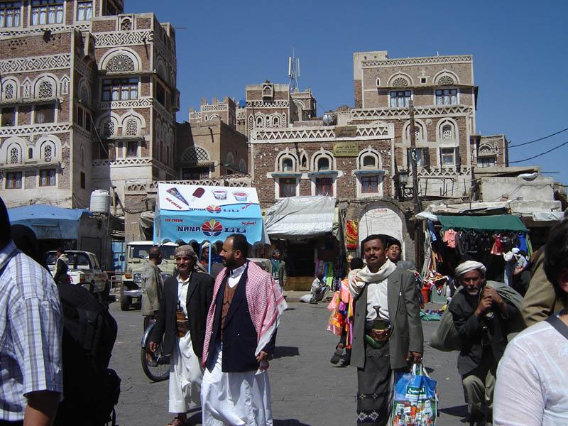 Sanaa, animazione nei pressi del Suk