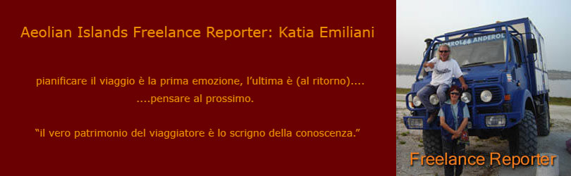 Isole Eolie Freelance Reporter.