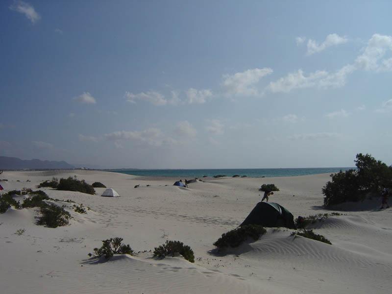 Socotra, bivacco sulla spiaggia