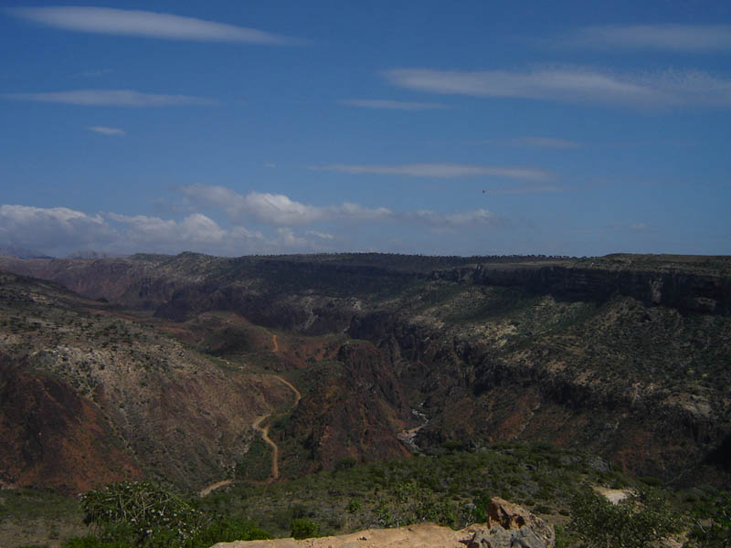 Isola di Socotra, il Daraho Canyon