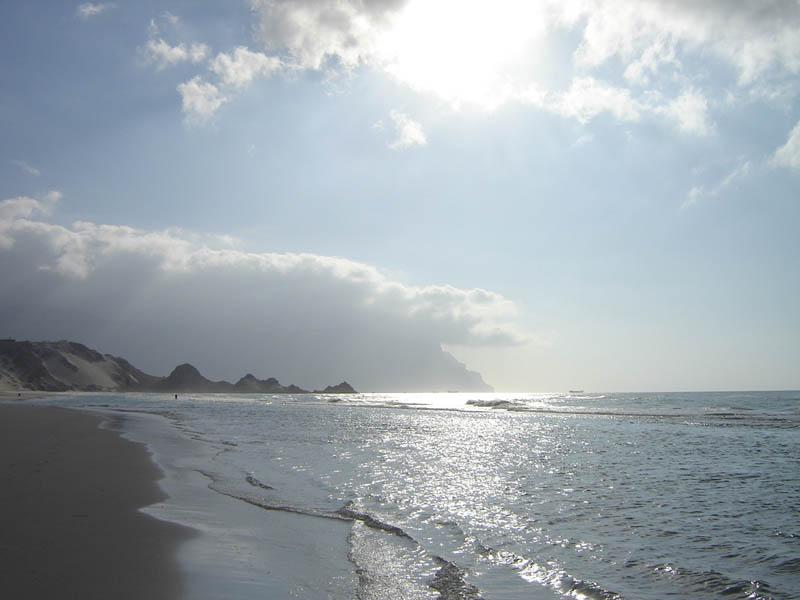 Socotra, il litorale di Detwah verso sera,