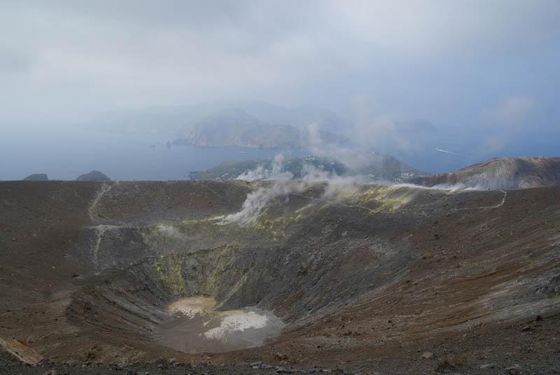 Vulcano, vista dal cratere